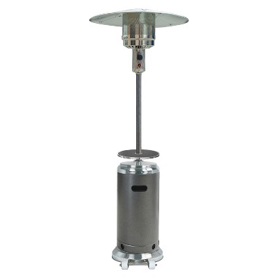 87  Tall Stainless Steel/Hammered Silver Patio Heater with Table