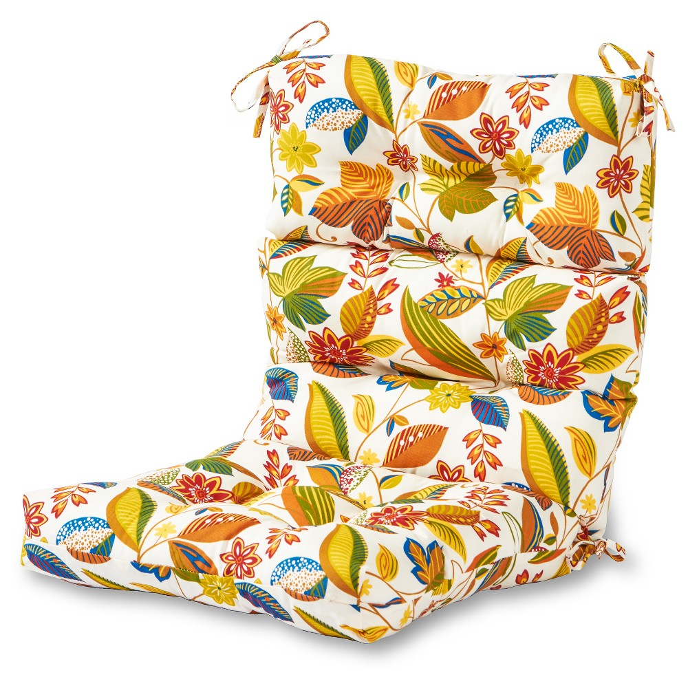 Image of Esprit Floral Outdoor High Back Chair Cushion - Greendale Home Fashions