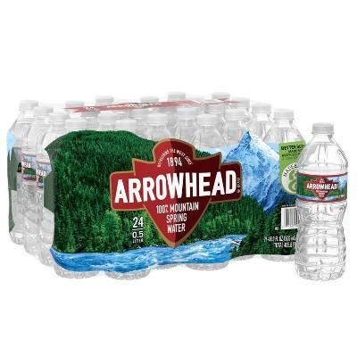 Arrowhead Brand 100% Mountain Spring Water - 24pk/16.9 fl oz Bottles