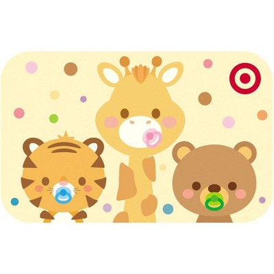 3 Cute Animals Target GiftCard $10