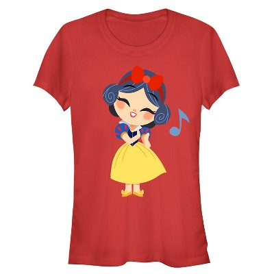 Junior's Snow White and the Seven Dwarves Cartoon Song T-Shirt