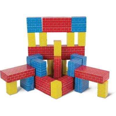 Developmental Toy, Extra-Thick Cardboard Construction, 40 Pieces, 12.5/″ H /× 7/″ W /× 19/″ L Melissa /& Doug Deluxe Jumbo Cardboard Blocks
