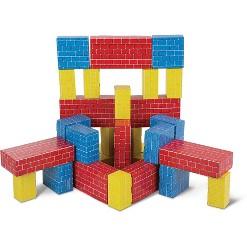 Melissa & Doug Lightweight Jumbo Cardboard Building Block Set - 40pc