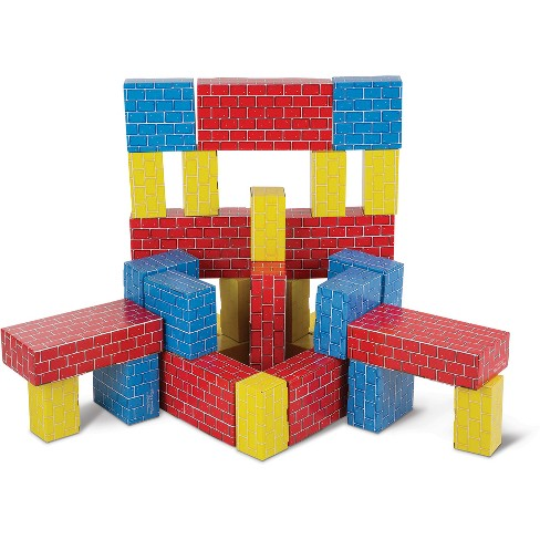 4ddeeb766 Melissa   Doug Lightweight Jumbo Cardboard Building Block Set - 40pc    Target