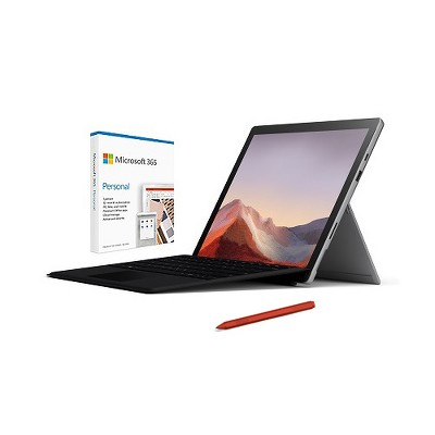 "Microsoft Surface Pro 7 12.3"" Intel Core i5 8GB RAM 128GB SSD Platinum + Surface Pro Signature Type Cover Black+Surface Pen Poppy Red+Microsoft 365..."