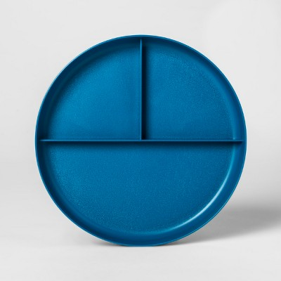 7.3  Plastic Divided Kids Plate Blue - Pillowfort™