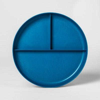 7.3  Plastic Divided Kids Plate Blue - Pillowfort™
