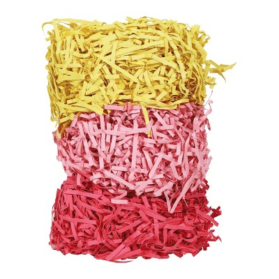 2.5oz Crinkle Paper Shred Gift Packaging Accessory Red/Pink/Yellow - Spritz™
