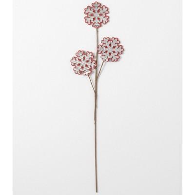 "Sullivans Decorative Figurine Snowflake Stem 28""H Red"