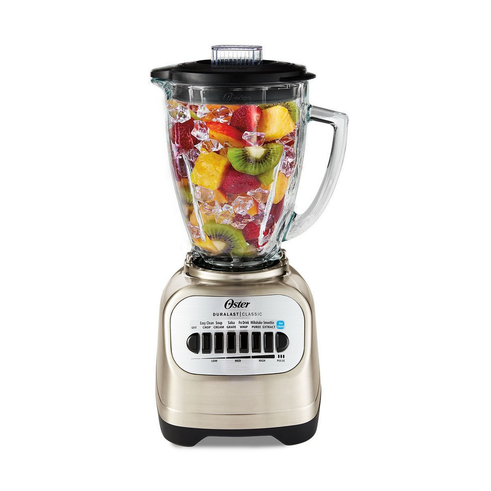 Oster Classic Series Blender with Travel Smoothie Cup – Chrome Blstcg-Cbg-000, Silver 14449916
