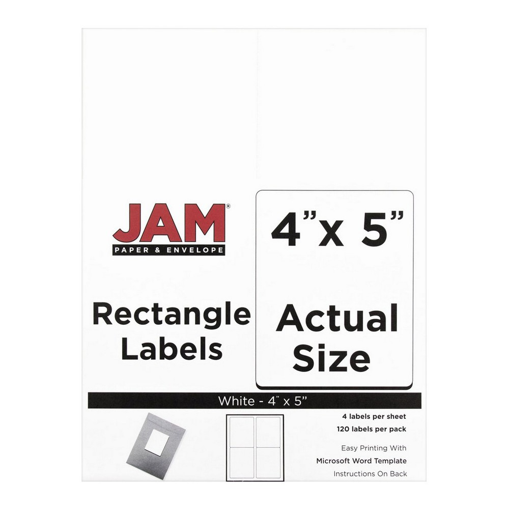 Jam Paper Shipping Labels 4 x 5 120ct - White