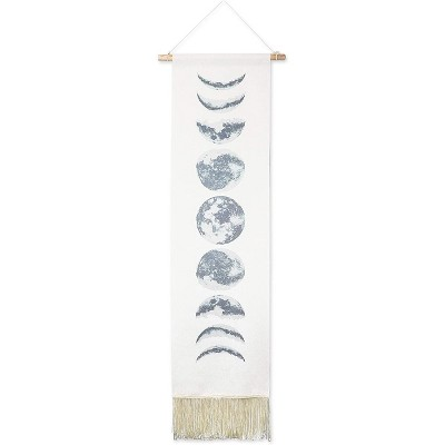 """Okuna Outpost Moon Phase Tapestry Wall Hanging Bohemian Tapestries Cotton Linen Boho Wall Art Home Decor 12.3""""x49"""""""