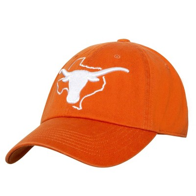 NCAA Texas Longhorns Men's Structured Washed Cotton State Outline Hat