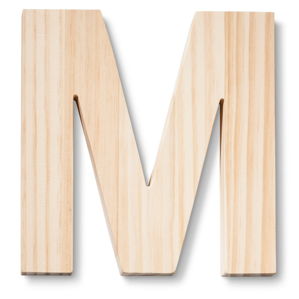 Hand Made Modern - Wood Letter Large - M, Neutral
