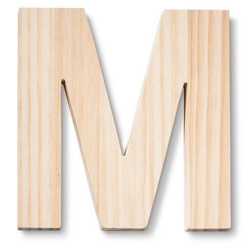 Hand Made Modern Wood Letter Large M
