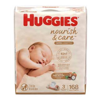 Huggies Nourish & Care Baby Wipes - 168ct