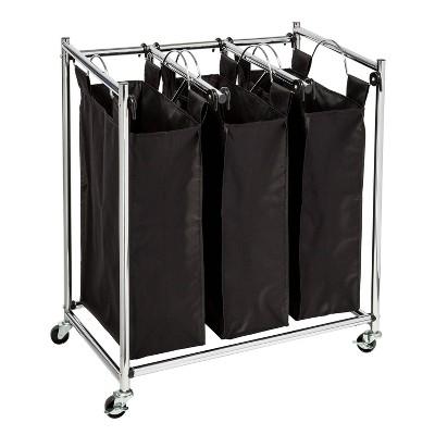 Honey-Can-Do Easy Load Triple Sorter Black