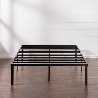 "16"" Luis Quick Lock Metal Platform Bed Frame Black - Zinus"