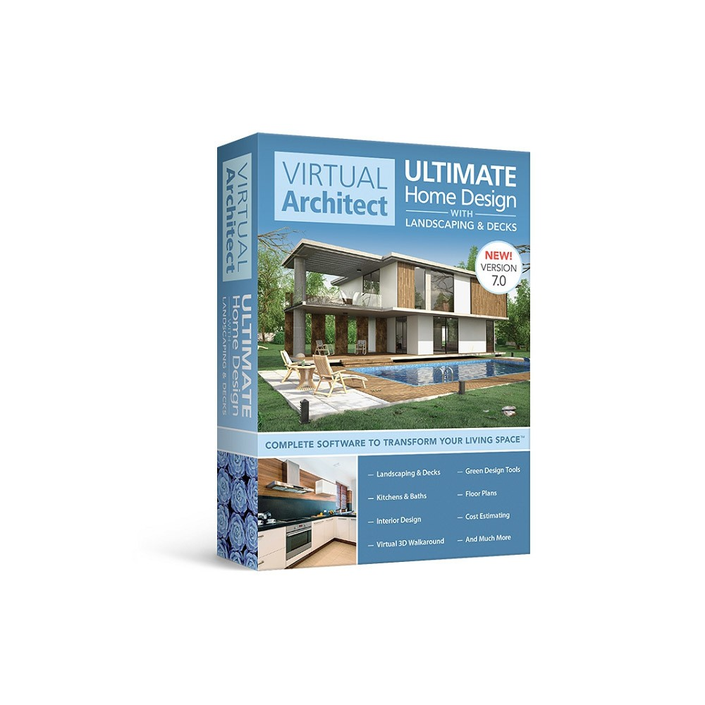 Avanquest Virtual Architect Ultimate Home Design With Landscaping Decks 7 Pc Email Delivery