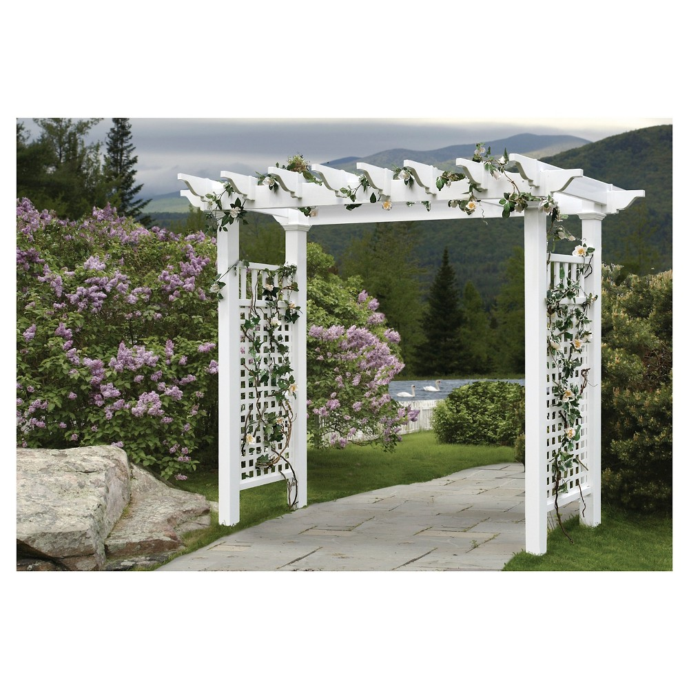 Fairfield Grande 52.25 Vinyl Arbor - White - New England Vinyl Arbors