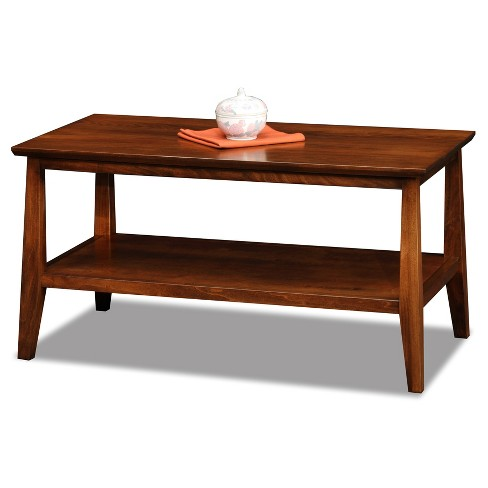 Delton Condo, Apartment Solid Wood Coffee Table - Sienna Finish - Leick Home - image 1 of 6