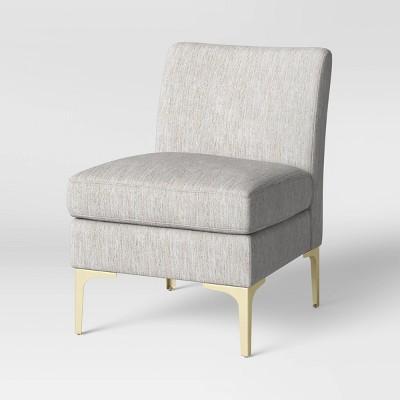 Joslyn Brass Leg Accent Chair Gray Woven - Project 62™