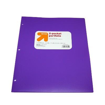 2 Pocket Plastic Folder Purple - up & up™
