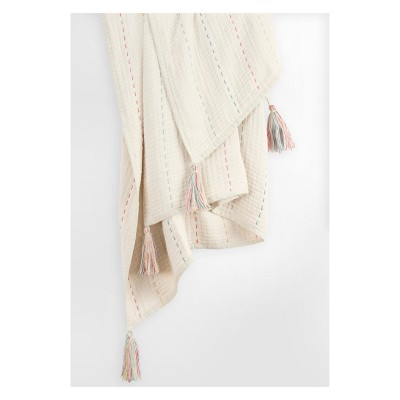 """Throw Blankets 50""""X60"""" White - Rizzy Home"""