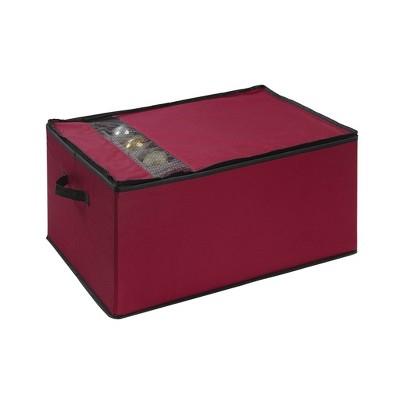 Holiday Ornament Storage Box Red - Neu Home