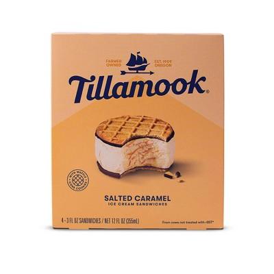 Tillamook Salted Caramel Ice Cream Sandwich - 12oz/4ct