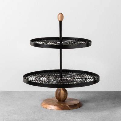 Tiered Serving Stand Black - Hearth & Hand™ with Magnolia