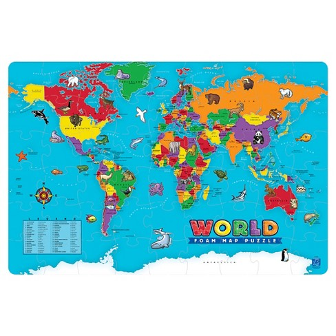 54pc World Foam Puzzle - image 1 of 3