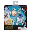Star Wars Galaxy of Adventures R2-D2, BB-8, D-O 3-pack Toy Droid Figures - image 2 of 4