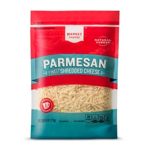 Finely Shredded Parmesan Cheese - 6oz - Market Pantry™ - image 1 of 1