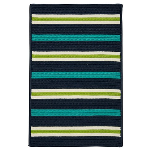 Painter Stripe Braided Area Rug - Navy Waves - (5'x7') - Colonial Mills - image 1 of 3