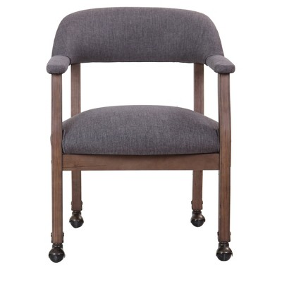 Modern Captainu0027s Chair With Casters   Slate Grey   Boss : Target