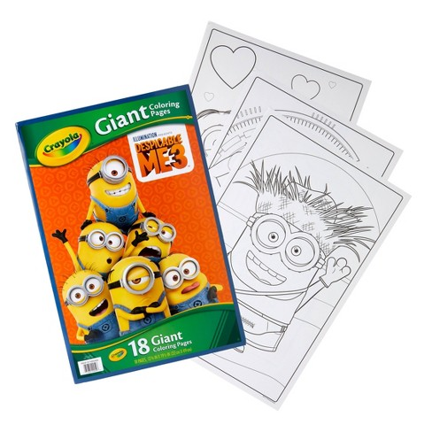 Crayola Giant Coloring Pages, Despicable Me 3, Gift For Kids, 18pg ...