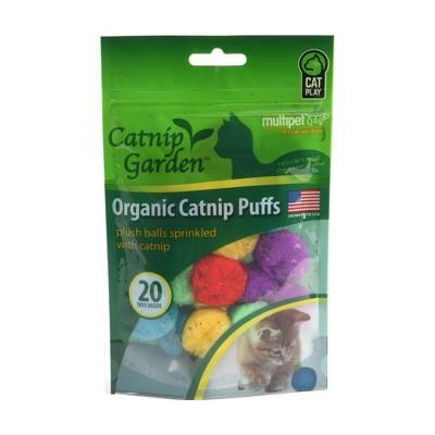 Multipet Garden Cat Catnip Puffs - 20ct