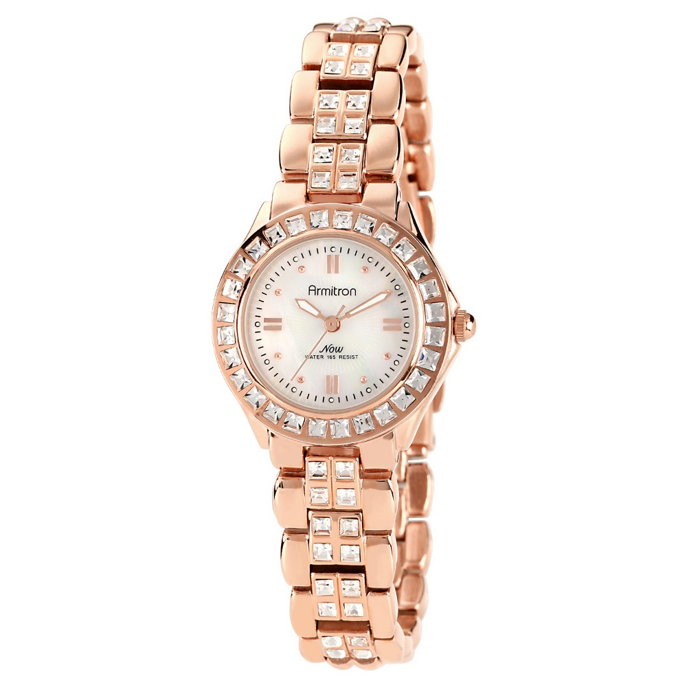 Image of Armitron Ladies' Swarovski Crystal Bracelet Watch - Rose gold, Women's, Pink