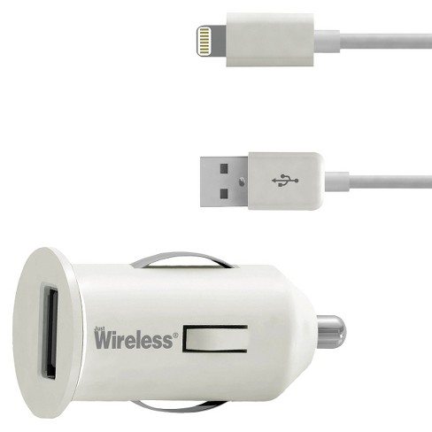 Just Wireless Car Mobile Charger for iPhone 5/5S - White (03467) - image 1 of 1