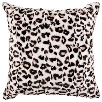"""Betseyville 20"""" X 20"""" Betseys Leopard Throw Pillow Pink"""