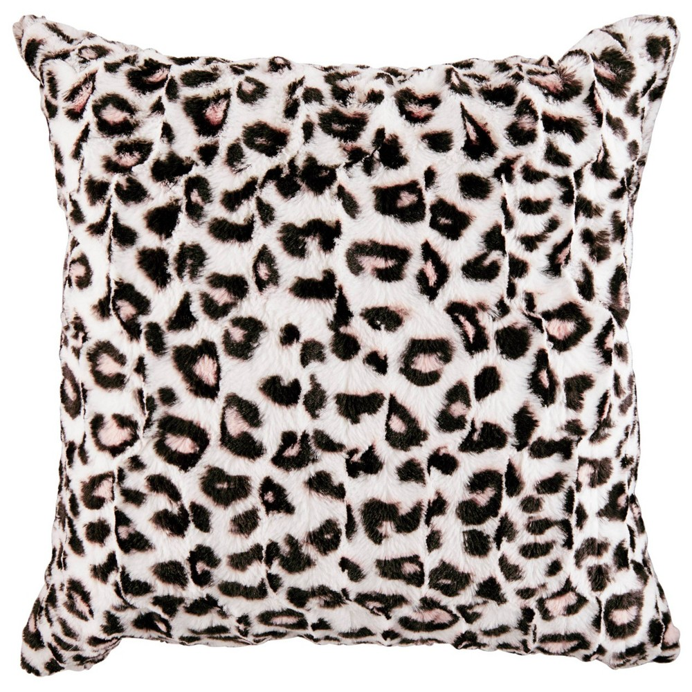 "Image of ""Betseyville 20"""" X 20"""" Betseys Leopard Throw Pillow Pink"""