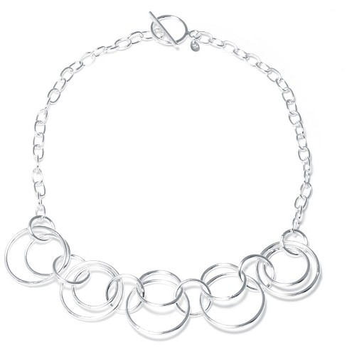 "Silver Plated Brass Large Links Necklace (16"") - image 1 of 1"