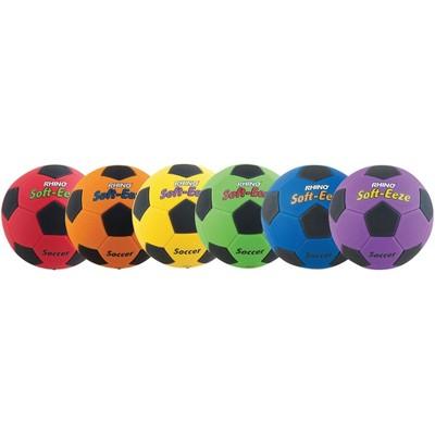 Champion Rhino Skin Soft EEZE Soccer Balls, Size 4, set of 6