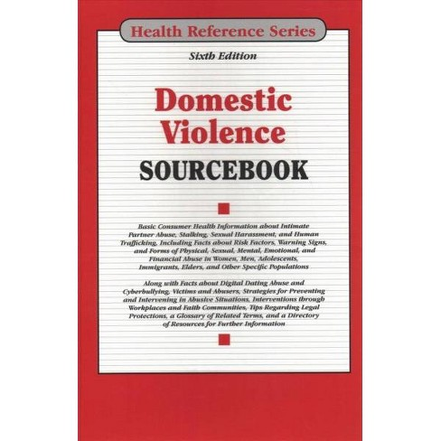 Domestic Violence Sourcebook -  (Health Reference Series) (Hardcover) - image 1 of 1