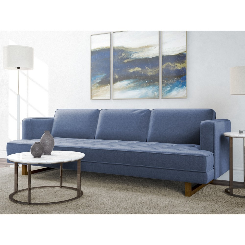 Pearl ModernTufted Sofa Pacific Blue - AF Lifestlye