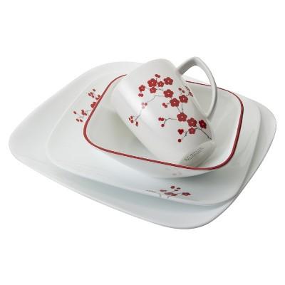 Corelle® Square™ 16pc Dinnerware Set Hanami Garden
