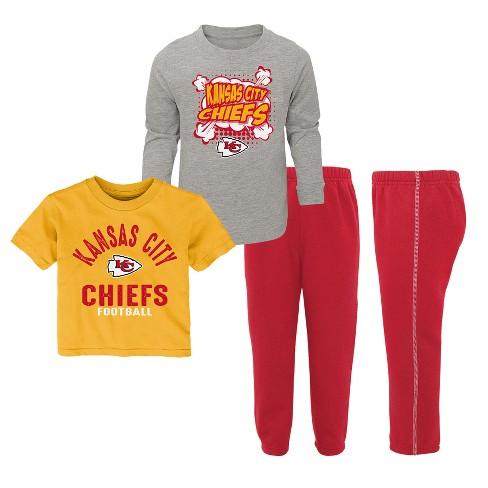 new style a1b2d 71a6e NFL Kansas City Chiefs Toddler Gametime Fun 3pk Shirt/ Pants Set