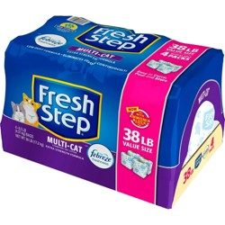 Fresh Step - Multi-Cat Scented Clumping Cat Litter With The Power Of Febreze - 38lb - 4pk