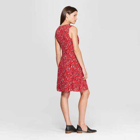 6ba7606668d Women s Floral Print V-Neck Wrap Dress - Universal Thread™   Target